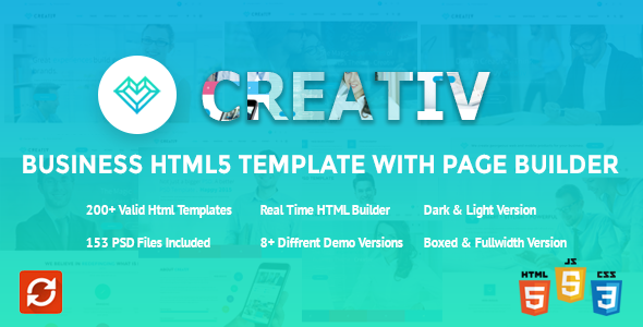 Creativ Business HTML Template With Page Builder