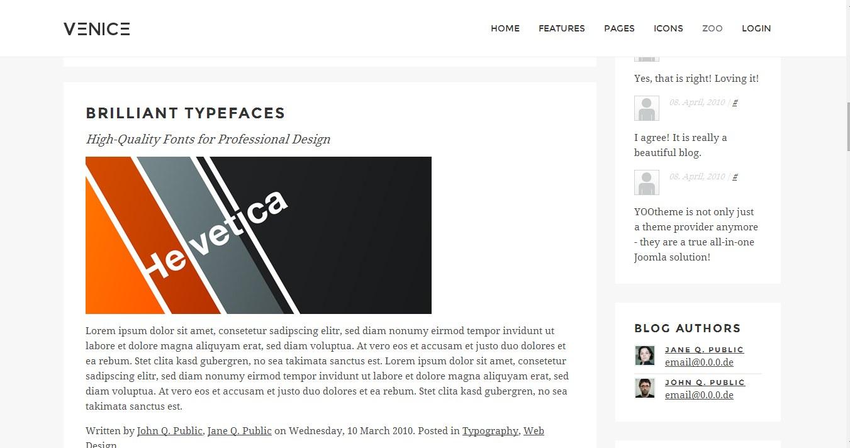 Venice v1 0 premium Joomla Theme 3 x – Yootheme