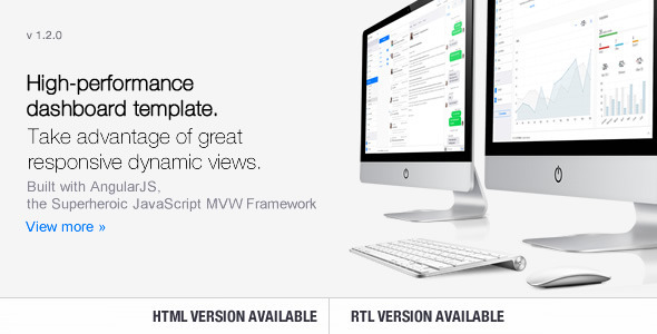 Clip-Two v1.3.0 – Bootstrap Admin Template with AngularJS