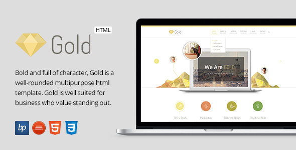 Gold v1.0 – Responsive Business HTML5 Template