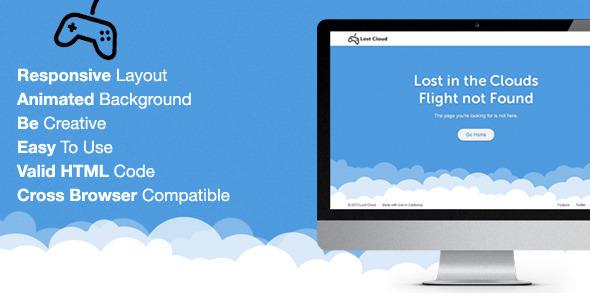 Lost - Responsive 404 Error Template