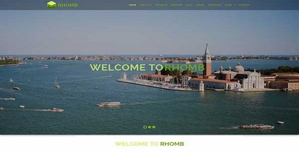Rhomb – One Page Responsive HTML Template
