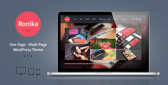 Ronika v1.4 – One Page Multi Page WordPress Theme