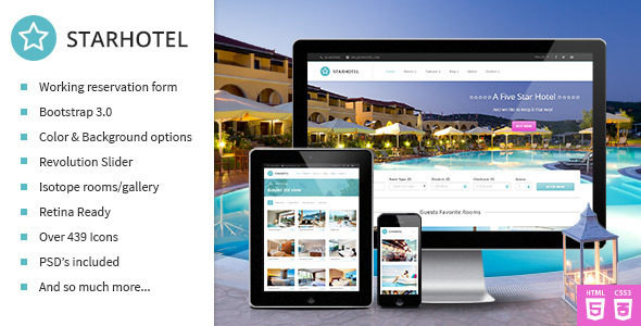 Starhotel v1.0 – Responsive Hotel Booking Template