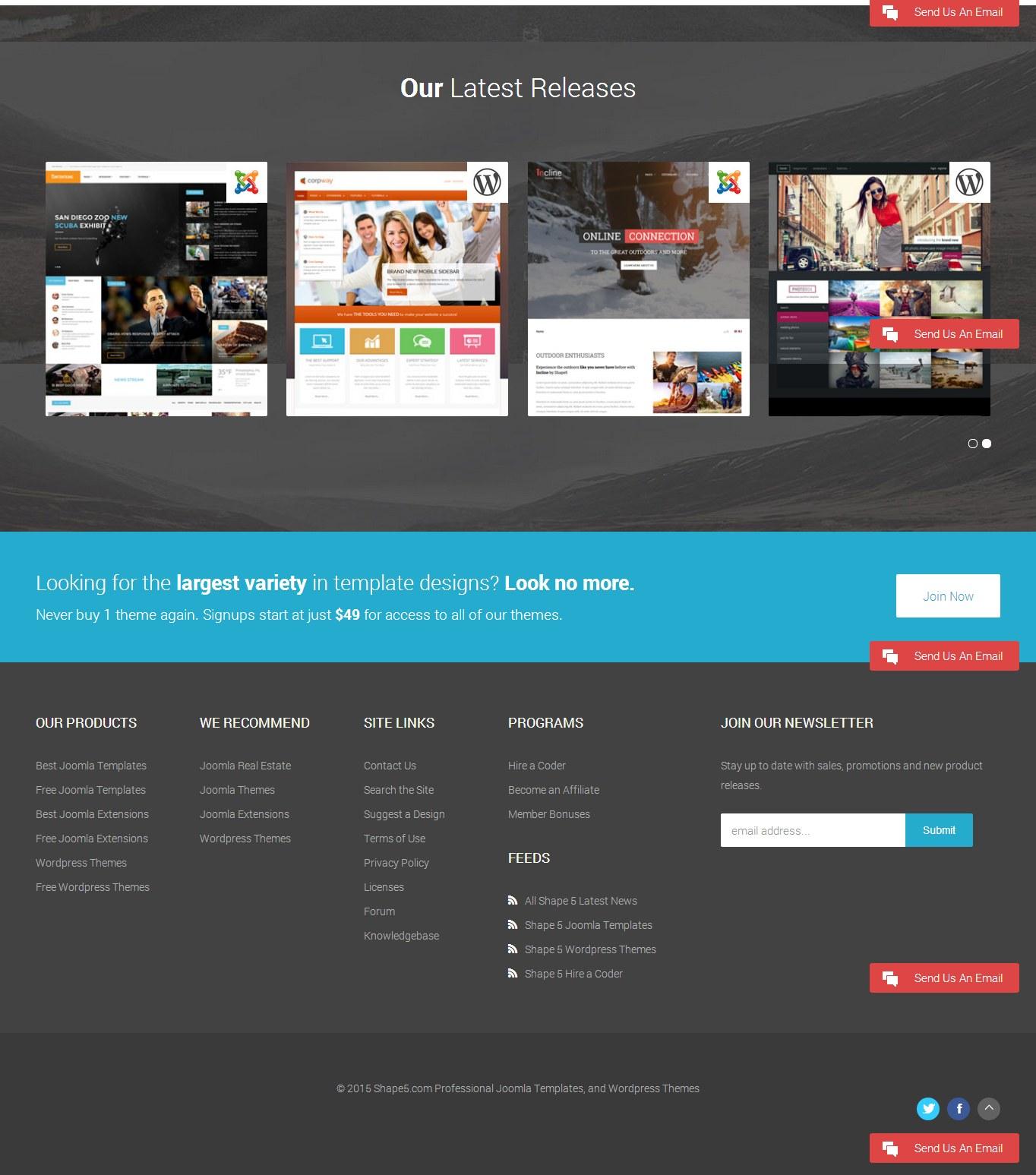 Content King V10 Joomla Templates 25 Shape5