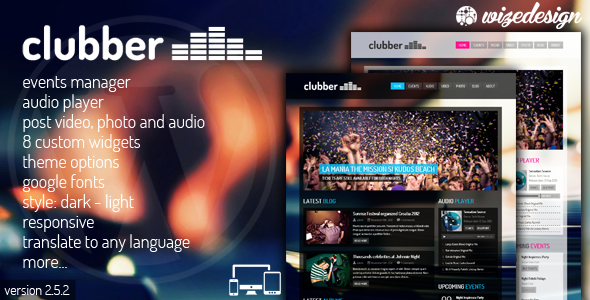 Clubber v2.5.2 – Events & Music WordPress Theme