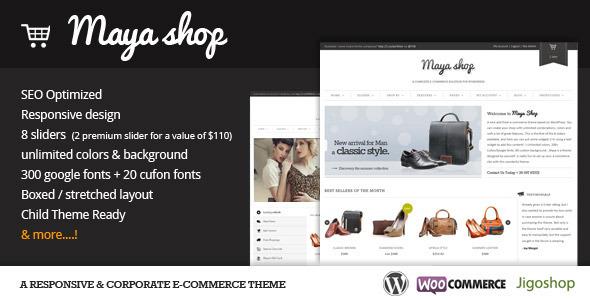MayaShop v2.8.2 – A Flexible Responsive e-Commerce Theme