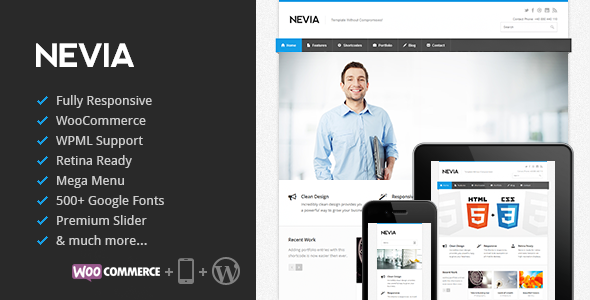 Nevia v1.5.1 – Responsive Multi-Purpose WordPress Theme