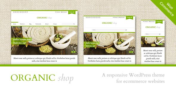Organic Shop v2.5.4 – Responsive WooCommerce Theme