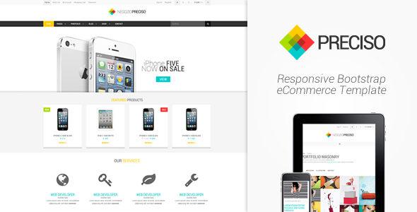 Preciso – Responsive Bootstrap eCommerce Template