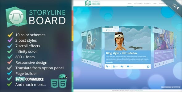 Storyline Board v2.5.1 – WordPress Theme
