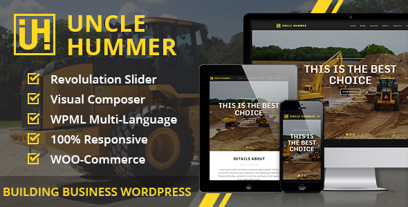 Uncle Hummer v2.1.3 – Responsive WordPress Building Theme