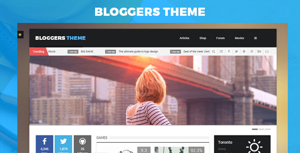 Bloggers Theme – Blog/Magzine/Games/News WordPress Theme