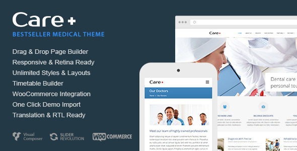 Care v4.0.4 – Medical and Health Blogging WordPress Theme
