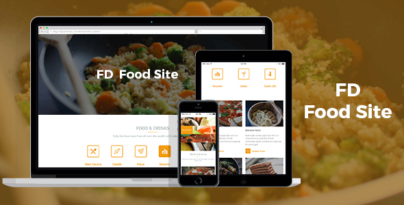 FD Food Site - Food Blog WordPress Theme