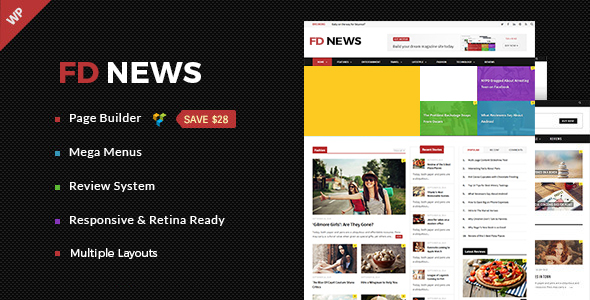 FD News - Magazine, News, Blog WordPress Theme